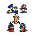 generals admirals and emperor mascot collection vector image vector image