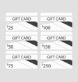 gift card in material design style layers of cut vector image vector image