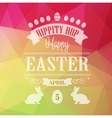 Happy Easter Typographical Poster vector image vector image