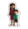 happy family member character vector image vector image
