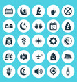 holiday icons set collection of kareem lamp vector image vector image