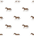 horse icon in cartoon style isolated on white vector image vector image