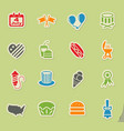 independence day icon set vector image vector image