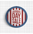 Independence day sale circle realistic banner
