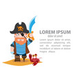 infographics pirate pirate history cartoon vector image