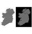 ireland countries map hex tile mosaic vector image vector image