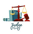 judge concept in flat cartoon style justice vector image