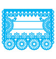 mexican papel picado blank text template design vector image vector image