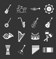 musical instruments icons set grey vector image