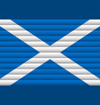 national flag scotland for independence day vector image