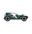 Off road dune buggy isolated icon