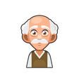 old man cartoon icon cute avatar vector image