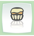 outline cupcake with cream icon Modern infographic vector image vector image