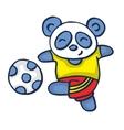 Panda playing football vector image