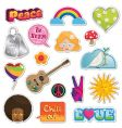 peace and love stickers vector image