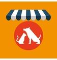 pet shop with vet dog and vector image vector image