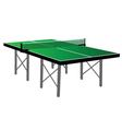 ping pong green table tennis vector image vector image