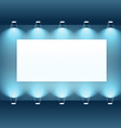 presentation board with spot lights vector image vector image