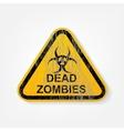 radiation warning sign vector image vector image