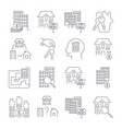 real estate thin line art icons set residential vector image