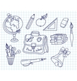 Scribble in a writing-books set vector image vector image