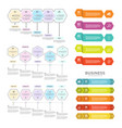 set business process infographic template vector image