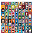 Set of people icons in flat style with faces 23 b vector image vector image