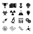 Set of science icons vector image vector image