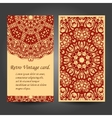 Set retro business invitation card vector image vector image