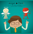 shoulder angel and devil vector image