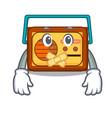 silent radio mascot cartoon style vector image