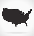 simplified usa america map outline silhouette vector image