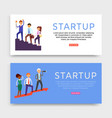 startup banner inscription set web sites vector image