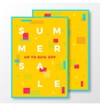 Summer Sale Poster Card or Flyer Template Modern vector image