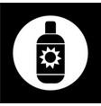 sun cream icon design vector image