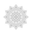 symmetric ornament of coloring book vector image vector image