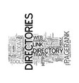 the power of web directories text background word vector image vector image