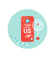 travel with us flyer modern tourism agency vector image vector image