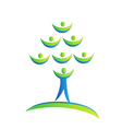 Tree people logo vector image vector image