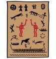 viking petroglyphs vector image