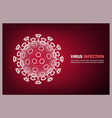 virus medical banner microbe allergy bacteria vector image