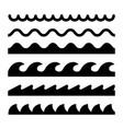 wave icon line sea ocean logo water simple vector image vector image