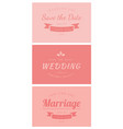 wedding card template vector image vector image