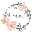 wedding rose with leaves ornament concept floral vector image