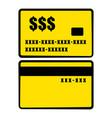 gold credit card icon icon cartoon vector image