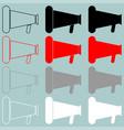 loud speaker black red grey white icon vector image