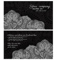 paisley lace black business card vector image