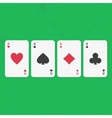 Ace poker cards set vector image