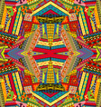 Colorful ethnic patchwork design vector image