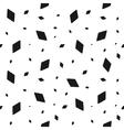 Geometric grunge seamless pattern of black rhomb vector image